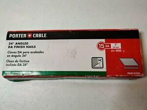 """New Porter Cable DA15150 Finish Nails 15 GA x 1-1//2/""""  4000 nails in box"""