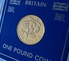 2013 Inglaterra Rose & Oak Leaf inglés floral £ 1 Moneda (BU) Caza Coleccionista Conjunto de Regalo