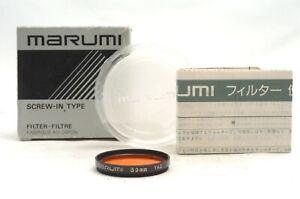 @ Ship in 24 Hours! @ Rare & Near Mint! @ Marumi 39mm YA2 Orange Lens Filter