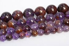 Natural Amethyst Cacoxenite Inclusions Quartz Grade AAA Round Bead 6-7/8/10/12MM