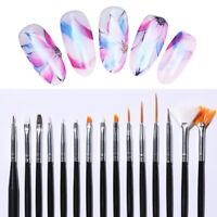 15Pcs/set Nail Brush Kit Acrylic UV Gel Pink Dotting Painting Pen Nail Art Tools