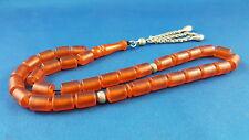 Orange Amber Bakelite Misky Prayer Worry Beads Tasbih Tasbeeh Masbaha NM2