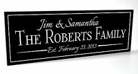 Personalized Family Name Sign Carved Engraved Custom Wood Sign Last Name Sign