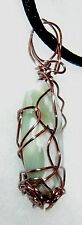 EXQUISITE HAND CRAFTED COPPER WIRE-WRAPPED RUBY IN ZOISITE CRYSTAL PENDANT 1-3/4