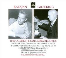 KARAJAN, GIESEKING: THE COMPLETE COLUMBIA RECORDINGS USED - VERY GOOD CD