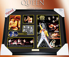 QUEEN BAND MEMORABILIA SIGNED FRAMED, LIMITED EDITION TO 499 w/ COA