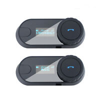 Bluetooth Motorcycle Helmet Intercom Interphone Headset FM Radio Soft Earpiece