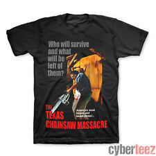 TEXAS CHAINSAW MASSACRE Movie Poster T-Shirt Black New S-2XL