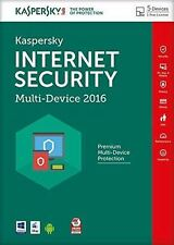 KASPERSKY 2016 5 Users iPhone Samsung Mac VAT Incl Internet Security