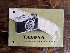 Taxona Anleitung - Text.deutsch - Classic-Camera-STORE
