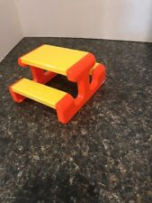 Little Tikes Picnic Table for Doll House Vintage