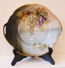 Antique Jaeger & Co., J &C Bavaria Porcelain 2 Handled Cake Plate Late 1800's