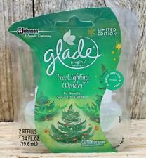 Limited Edition Glade Plug Ins Scented Oil Refills- Tree Lighting Wonder- 2 Pk