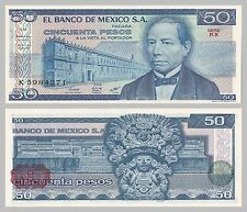 México/México 50 pesos 1981 p73 serie KX unz.