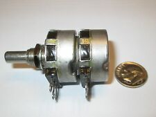 CLAROSTAT DUAL POTENTIOMETER 5K - 5K OHM LOG (AUDIO)  2 WATT TYPE  CM43   NOS