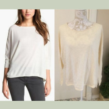 NWT VINCE Boatneck Sweater Top in Parchment White  [SZ Medium ] #1957