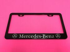 MERCEDES - BLACK Powder Coated Metal License Plate Frame w/Screw caps 14-17