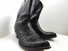 Mens LUCCHESE Classics Alligator Cowboy Boots Crocodile Leather sz 13 Made USA