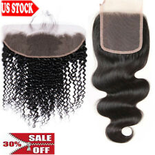 8A Brazilian Hair Lace Frontal/Closure Virgin Human Hair Straight/Wave LC Indian