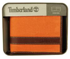 NEW NWT TIMBERLAND MEN'S WAXED CANVAS LEATHER PASSCASE WALLET BILLFOLD D88218/89