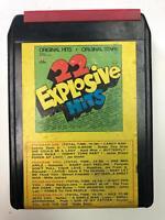 22 EXPLOSIVE HITS VOL. II Derek Dominos Chi Lites  TU2248ST k tel 8 Track Tape