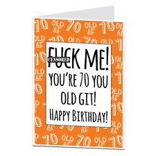 """Funny 70th Birthday Card Mum Dad Grandma Grandad Any """"Old Git"""""""