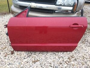 05-09 Ford Mustang Driver Side LH Door Shell - JV Dark Candy Apple Red