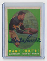 1958 PACKERS Babe Parilli signed card Topps #118 AUTO Autographed Green Bay QB