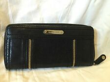 MICHAEL KORS Moxley Zip Around Leather Wallet Clutch Black Leather MK Wallet