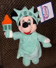 Disney Minnie Mouse Statue of Liberty bean bag plush - new with tag