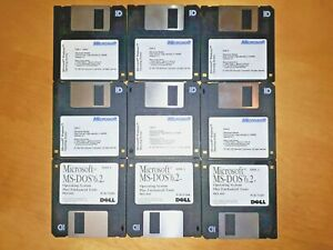 """Vintage Microsoft Windows Version 3.1 And MS DOS 6.2 on 3.5"""" Floppy Disks"""