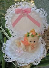 PINK OPEN SHELL WITH RESIN ANGEL BAPTISM Party Favors  24 Pc