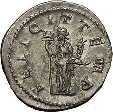 GORDIAN III 240AD  Silver Ancient Roman Coin Felicitas Good luck Cult  i52335
