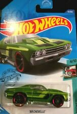 Chevy Chevelle Green 1969 Chevrolet Tooned Hot Wheels 1/64 2017