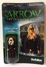 "ARROW TELEVISION SERIES BLACK CANARY 3 3/4"" ACTION FIGURE FUNKO REACTION RETRO"