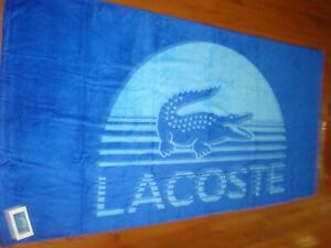 LACOSTE BEACH TOWEL DAYBREAK 36X72 INCHES