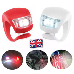2 X BICYCLE SAFETY TAIL LIGHT FRONT HEAD LAMP FLASH BRIGHTER WARNING LED CYCLING