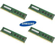 Samsung 16GB Kit (4 x 4GB) DDR3 12800U /1600MHz 1.5V UDIMM PC3 Desktop Memory