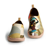 UIN Women Shoes Loafer Artistic Walking Travel African Beauty Canvas Slip-On
