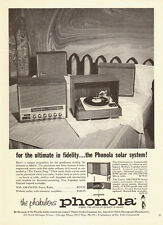 1960s vintage AD, PHONOLA 'Solar' Sound System Phonograph Radio 081214