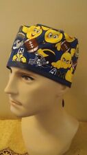 University of Michigan Emoji Football Scrub Hat Cap Medical Surgical Chef Chemo