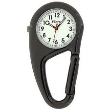 Ravel Clip On Doctors Nurses Unisex Carabiner Pocket Fob Backpack Watch R1105.03