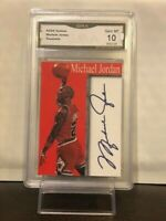 MICHAEL JORDAN  - SIGNATURE CARD - LIMITED PRINT - RARE Graded Gem Mint 10 Card