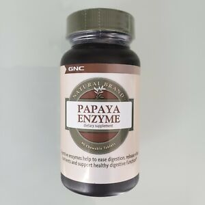 NEW! GNC Papaya Enzyme Natural Brand  90 Chewable Tablets Expires 2022