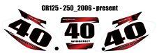 Custom number graphics for Honda CR 125 250 2006-10