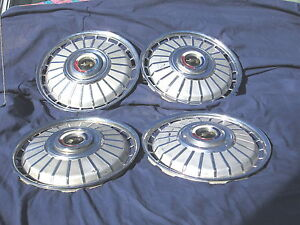 """4 Vintage 1962  Ford Fairlane, Galaxie,14"""" Hubcaps Hub Cap Very Good Condition"""