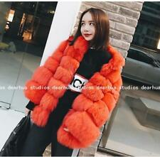 Womens Faux Fox Fur Coat Stand Collar Long Sleeve Outfit Short Cardigan Lit01