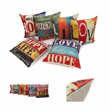 Set of 6 House Decorative Cushion Cover Square Throw Pillow Case Indoor Outdoor
