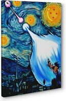 Dragon Ball Z Starry Night Framed Canvas Print Poster Wall Art