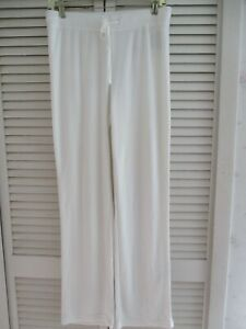 N.NATORI  TERRY LOUNGE 24/7 LONG PANTS WHITE SOFT COMFORTABLE SMALL NEW